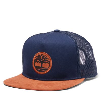 Men's Faux Suede-Brim Trucker Hat