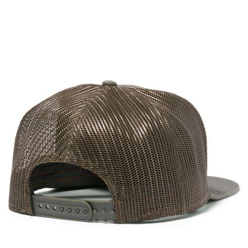 Men's Flat-Brim Logo Trucker Hat-