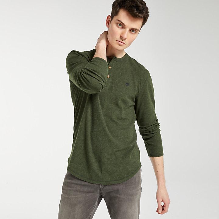 Men's Slim Fit Heathered Henley Shirt-