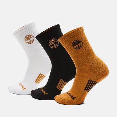 Men's 3-Pack Newmarket Village Logo Shortie Crew Socks