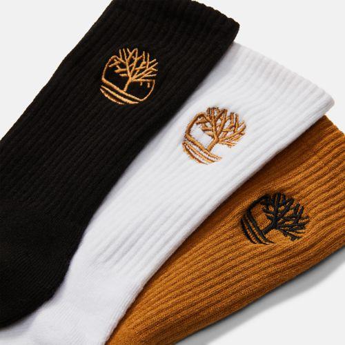 Men's 3-Pack Newmarket Village Logo Crew Socks-