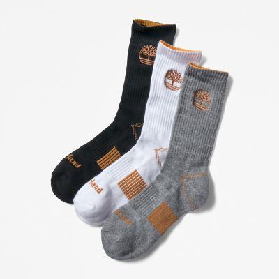 Men's 3-Pack Newmarket Village Logo Crew Socks