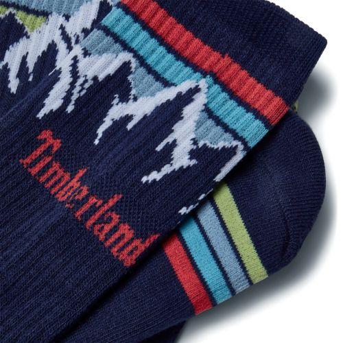 Men's Casual Mountain-Range Crew Socks-