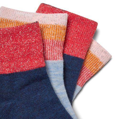 Women's 2-Pack Metallic-Stripe Ankle Socks-