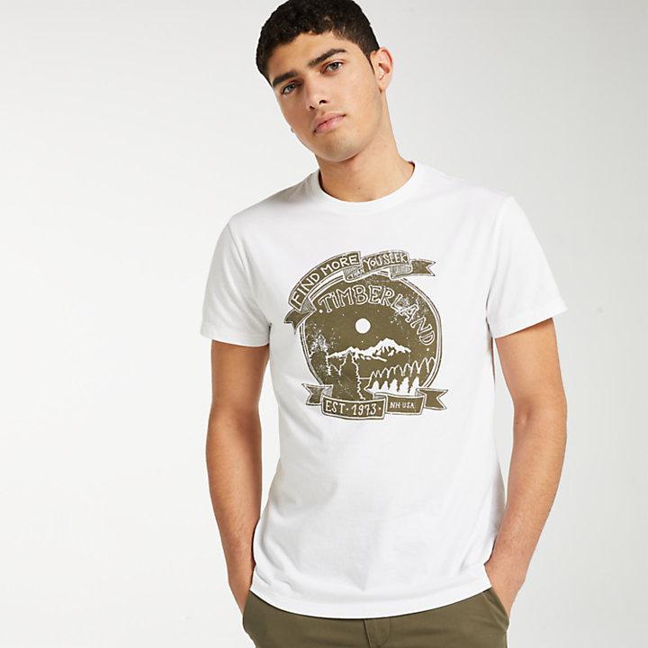 Men's Night Mountain Graphic T-Shirt-