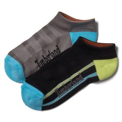 Women's 2-Pack Striped No-Show Sport Socks