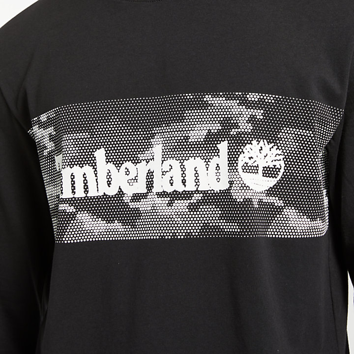 Men's Long Sleeve Camo Logo T-Shirt-