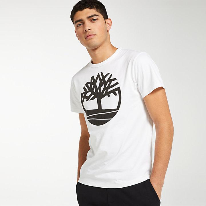 Men's Textured Tree Logo T-Shirt-