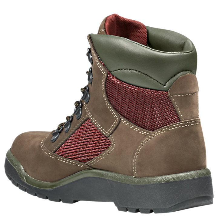 Junior Mixed-Media Field Boots-