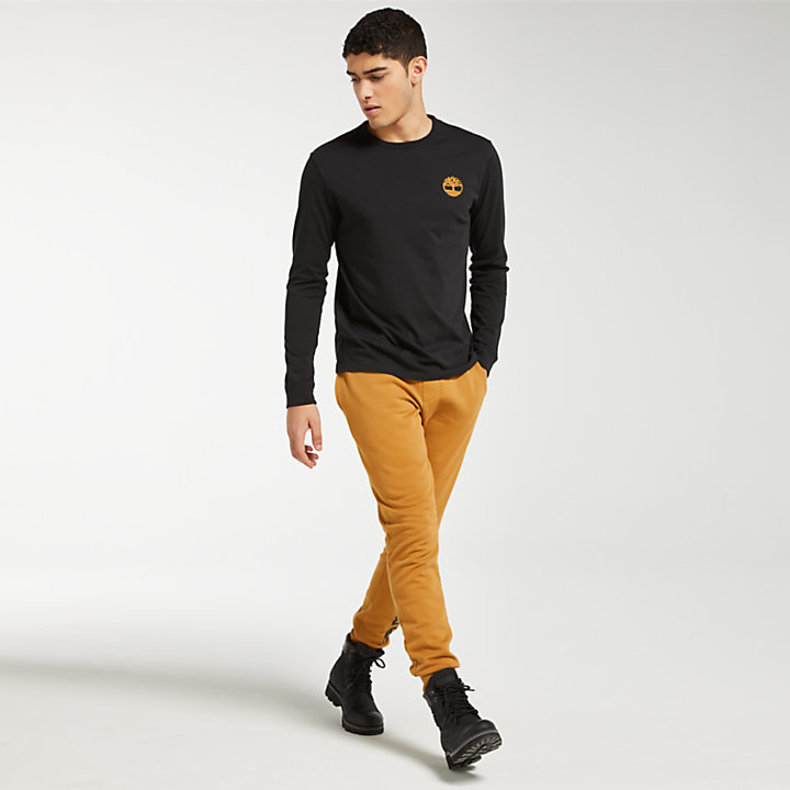 Men's Long Sleeve Back Tree Logo T-Shirt-
