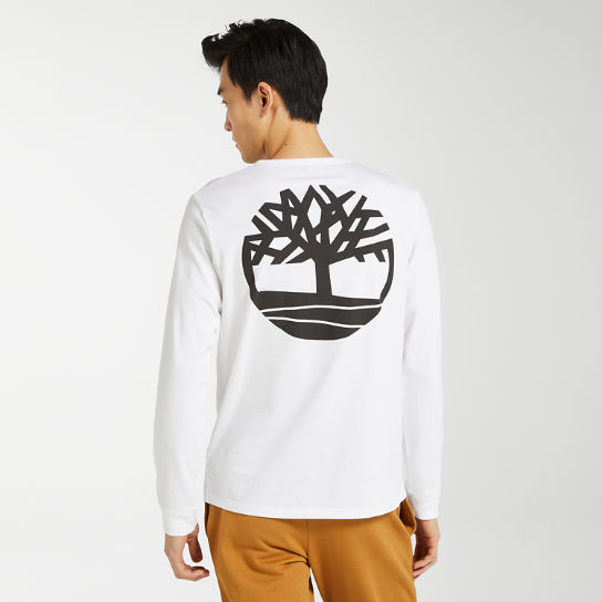 Men's Long Sleeve Back Tree Logo T-Shirt