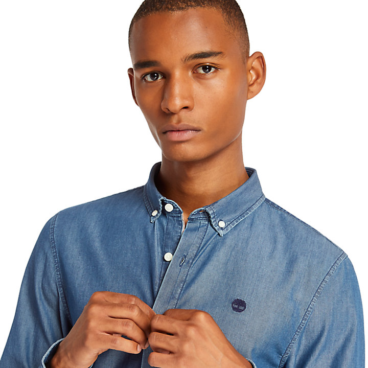 Men's Slim Fit Essential Chambray Shirt-