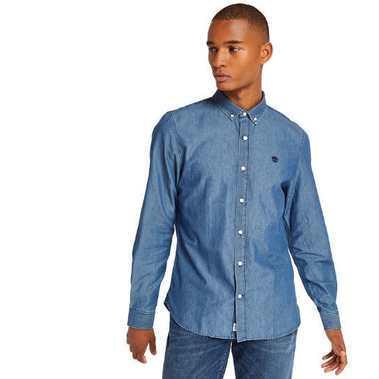 Men's Slim Fit Essential Chambray Shirt