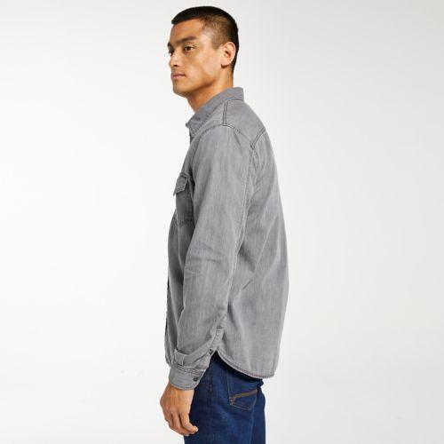 Men's Mumford River Slim Fit Black Denim Shirt-