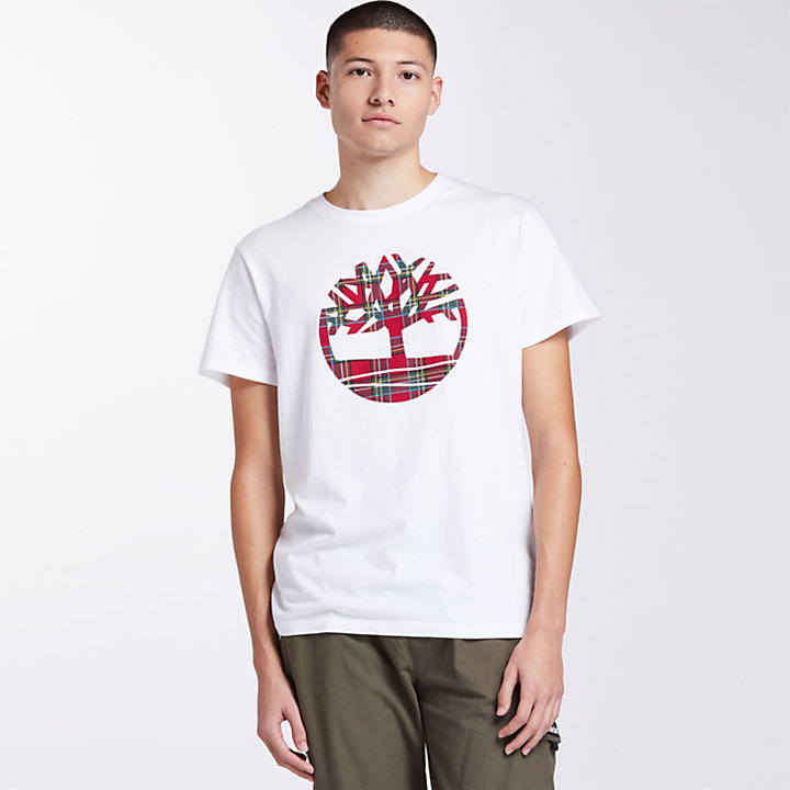 Men's Plaid Logo Holiday T-Shirt-