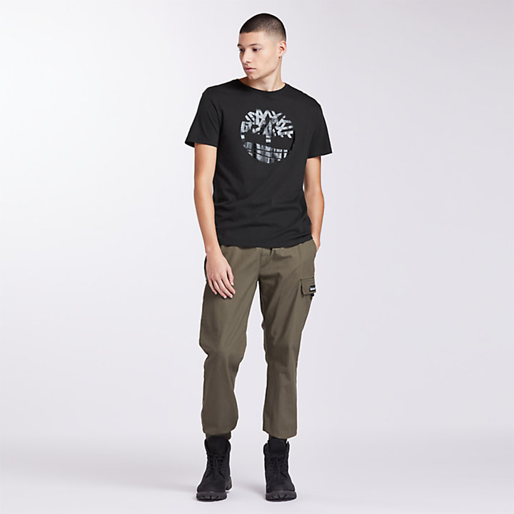 Men's Black Logo Holiday T-Shirt-