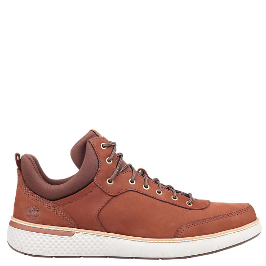 Men's Cross Mark Leather Sneakers