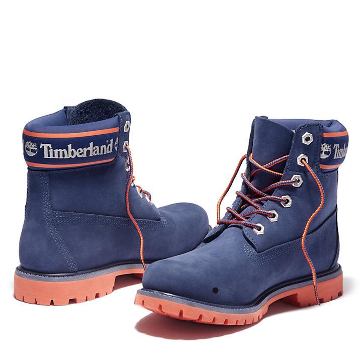 Women's 6-Inch Logo Collar Waterproof Boots-