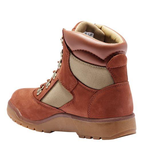 Junior 6-Inch Mixed-Media Field Boots-