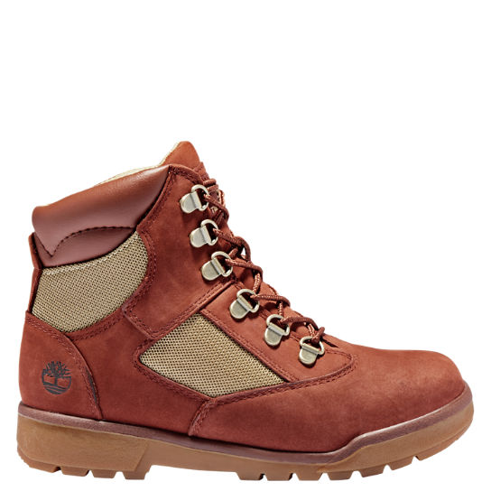 Junior 6-Inch Mixed-Media Field Boots