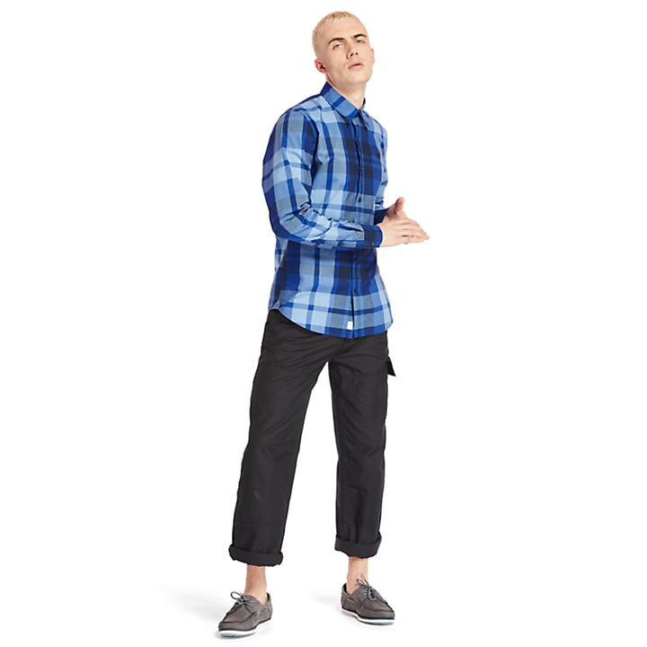 Men's Slim Fit Eastham River Plaid Shirt-