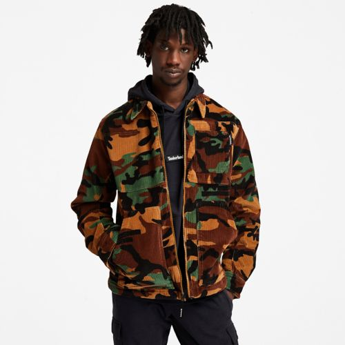 Men's Camo Corduroy Chore Jacket-