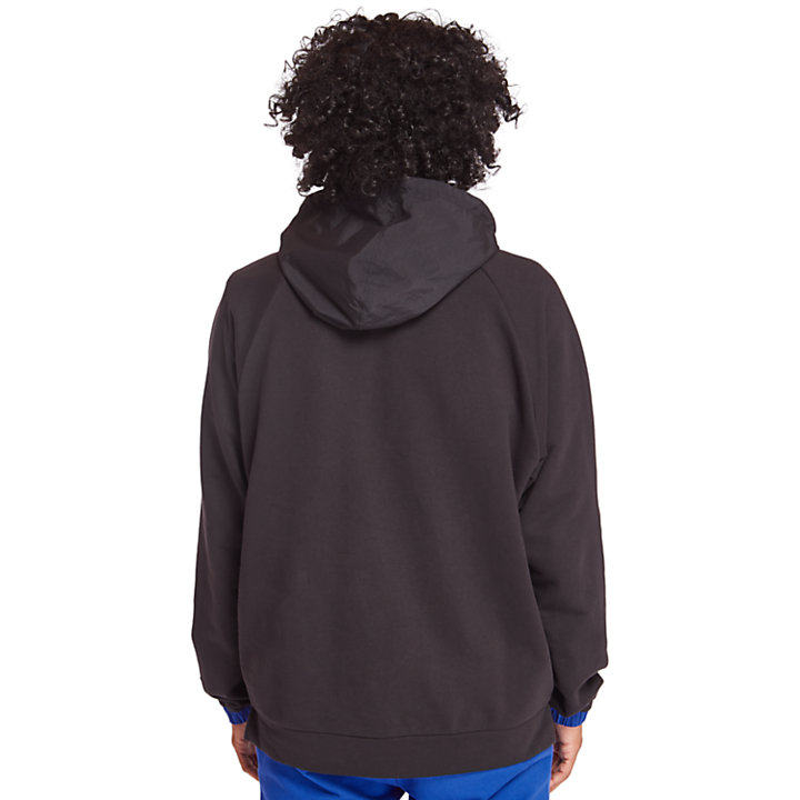 Men's Mixed-Media Mesh Pocket Hoodie-