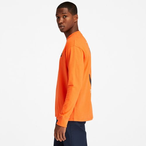 Men's Long-Sleeve Back-Graphic T-Shirt-