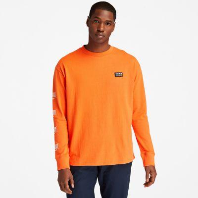 Men's Long-Sleeve Back-Graphic T-Shirt