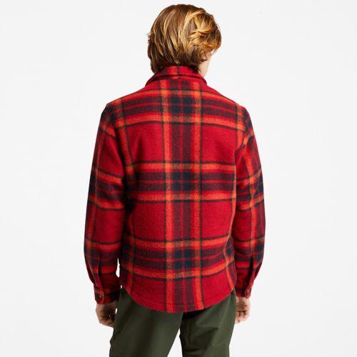 Men's Plaid Fleece Overshirt-
