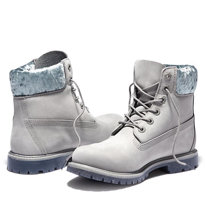 Women's 6-Inch Velvet Collar Waterproof Boots-