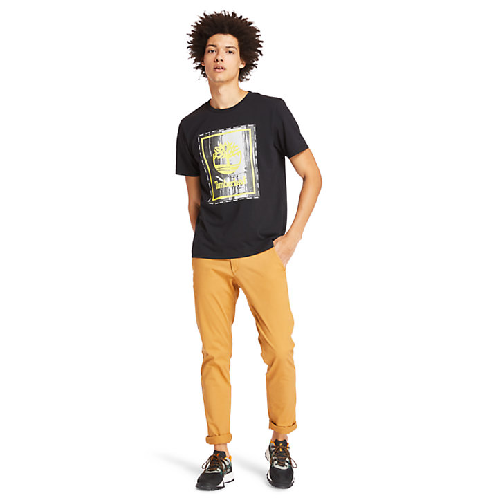 Men's Street Photo Graphic T-Shirt-