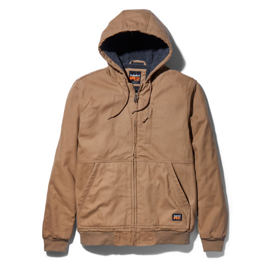 Men's Timberland PRO® Gritman Lined Canvas Hooded Jacket
