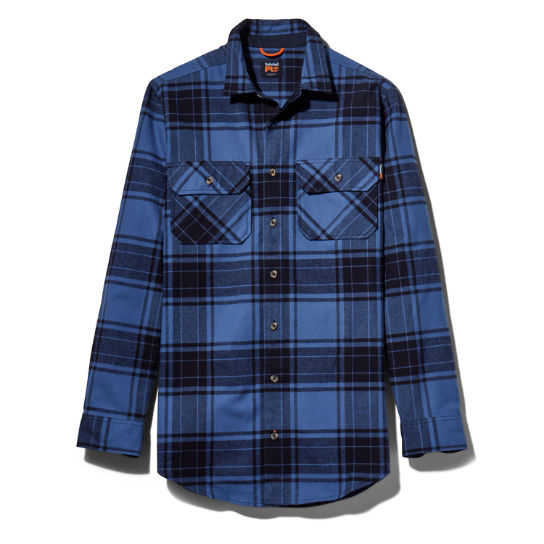 Men's Timberland PRO® Big & Tall Woodfort Heavyweight Flex Flannel Work Shirt