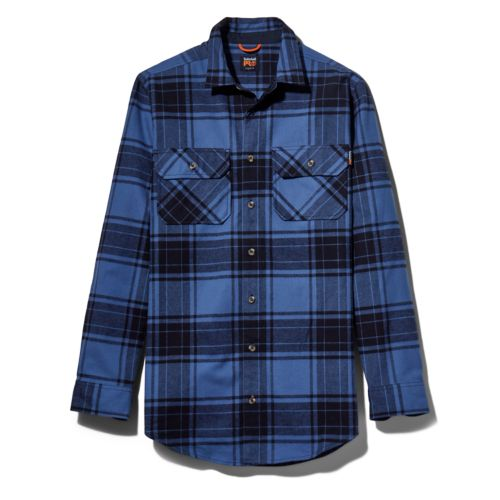 Men's Timberland PRO® Big & Tall Woodfort Heavyweight Flex Flannel Work Shirt-