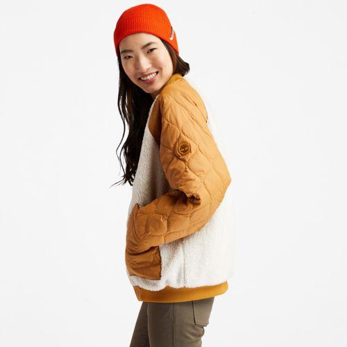 Women's Reversible Fleece Quilted Bomber-