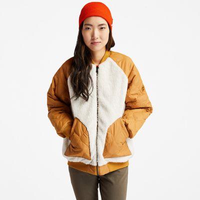Women's Reversible Fleece Quilted Bomber