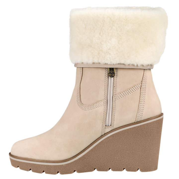Women's Paris Height Shearling Wedge Boots-