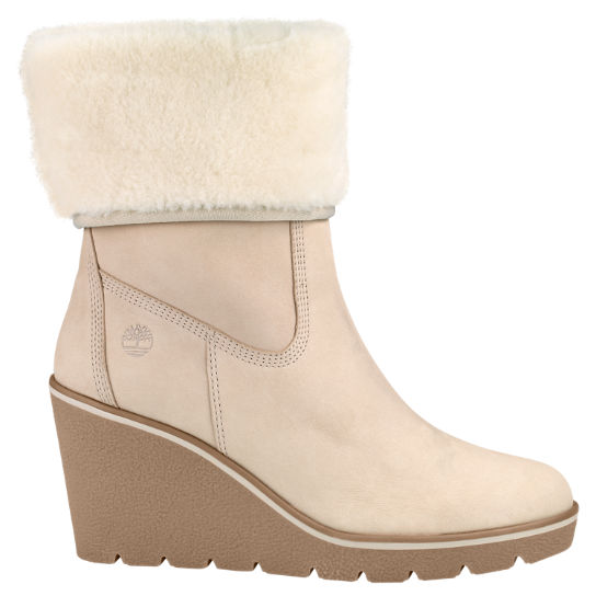 Women's Paris Height Shearling Wedge Boots