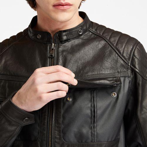 Men's Moto Guzzi x Timberland®Leather Jacket-