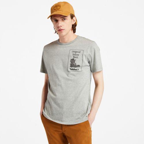 Men's Yellow Boot Short-Sleeve T-Shirt-