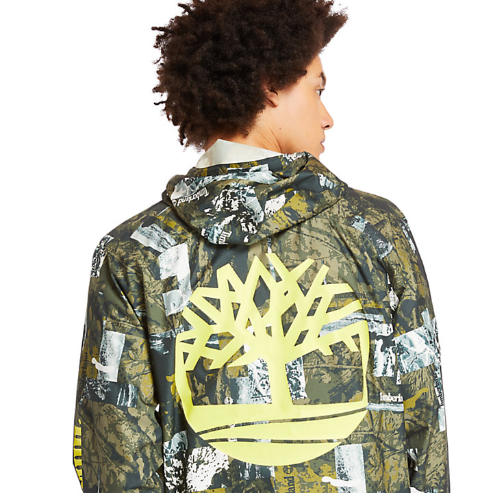 Men's Urban Camo Windbreaker Jacket-