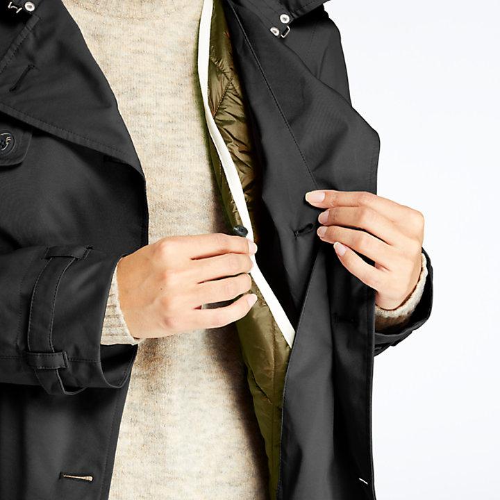 Women's Waterproof Belted Trench Coat-