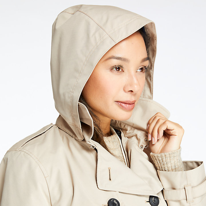 Women's Waterproof Belted Trench Coat-