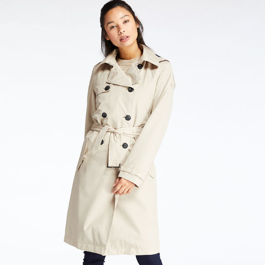Women's Waterproof Belted Trench Coat