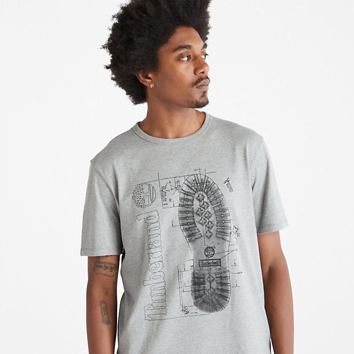 Men's Boot Print Graphic T-Shirt-
