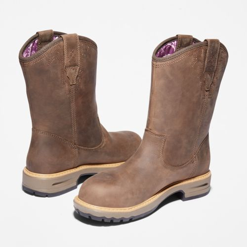 Women's Ashlar Pull On Alloy Toe Waterproof Work Boot-