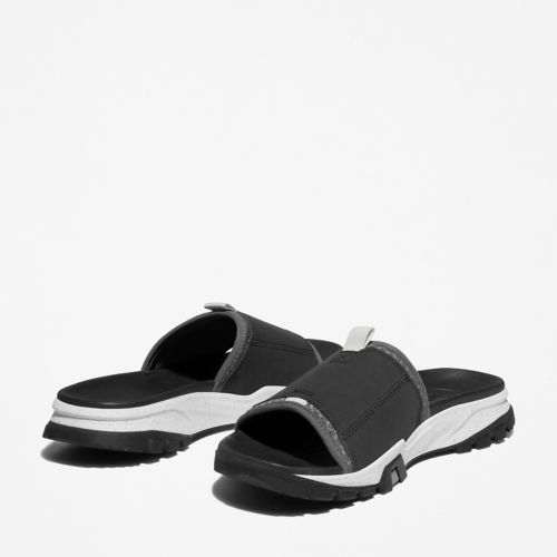 Men's Garrison Trail Mixed-Media Slide Sandals-
