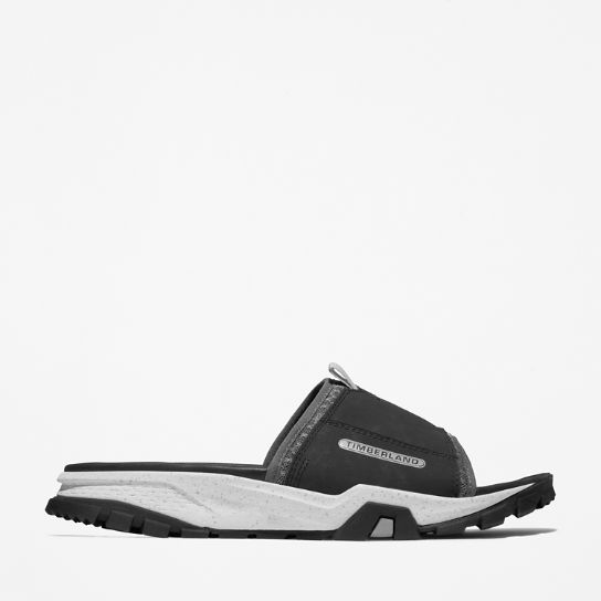 Men's Garrison Trail Mixed-Media Slide Sandals