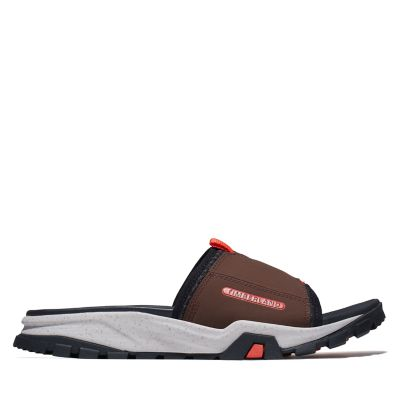Men's Garrison Trail Mixed-Media Slide Sandals